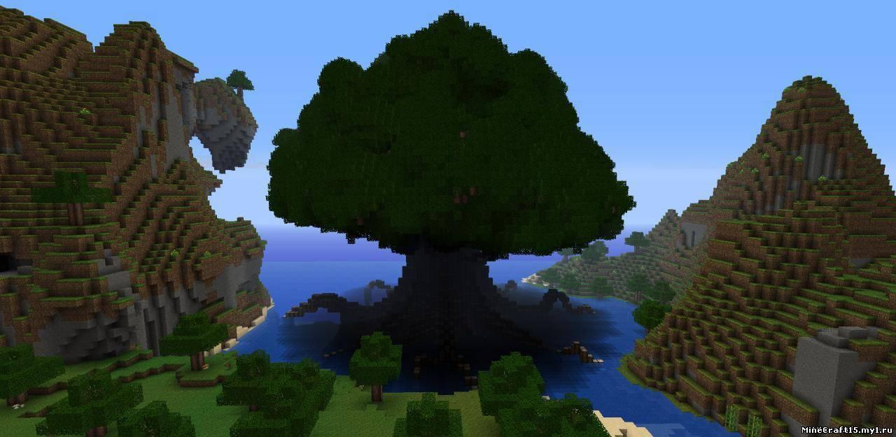 Реалистичные деревья в майнкрафт