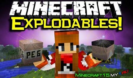 Explodables Mod для Minecraft [1.5.2]