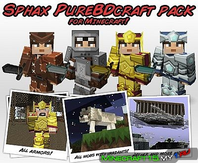 Sphax PureBDCraft ресурс пак [256x256] [1.8]