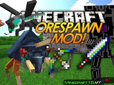Ore Spawn Mod для Minecraft [1.7.10]