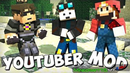 Youtuber Blocks Mod для Minecraft [1.7.10]