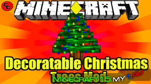Мод Decoratable Christmas Trees для Minecraft 1.10.2
